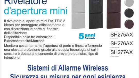 Contatto Magnetico Porta Finestra Antifurto Daitem in zona Provincia Asti