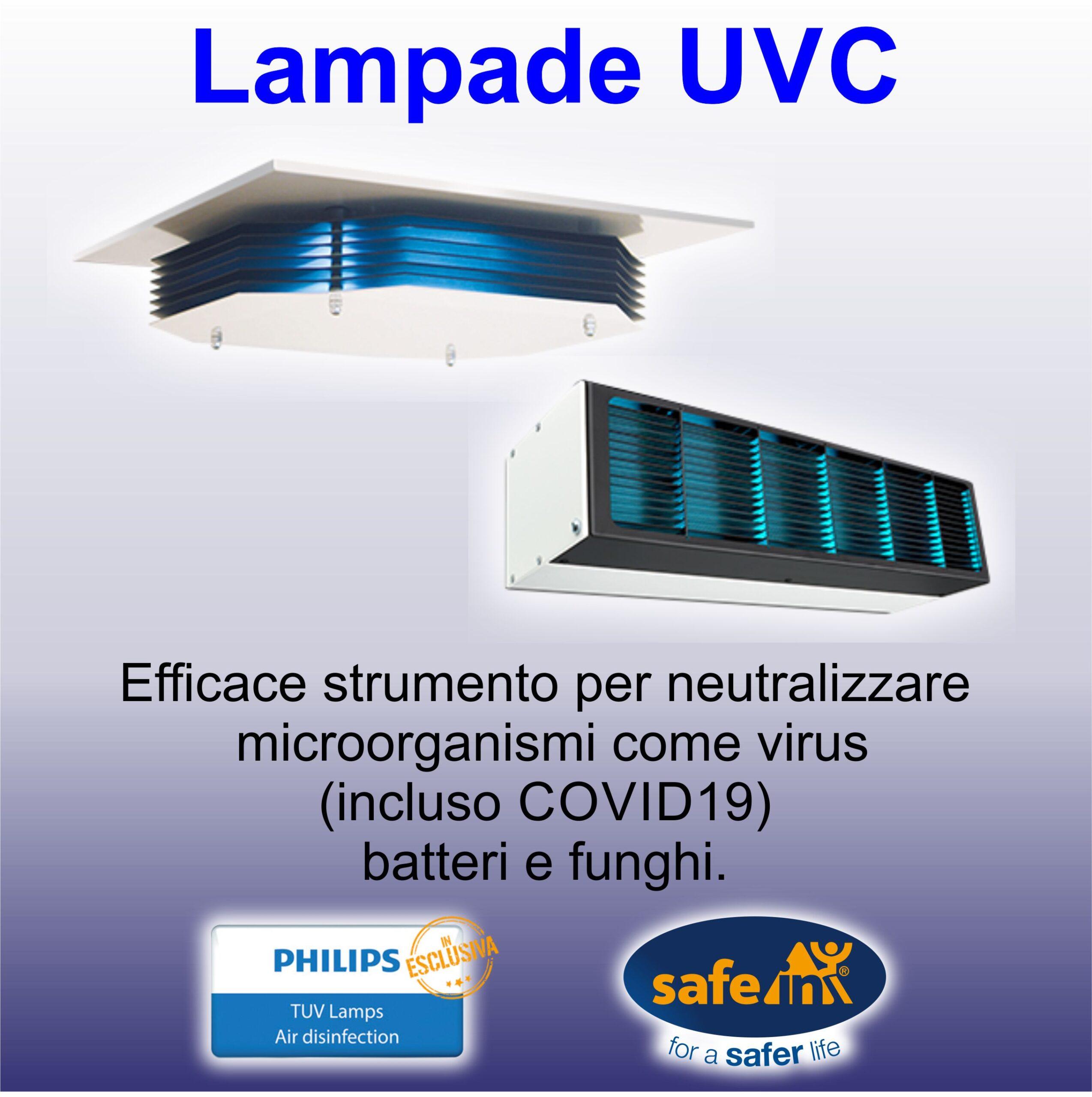 LAmpada UVC UV-C disinfettante virus batteri covid19 asti piemonte Philips